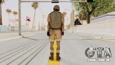 MGSV Phantom Pain CFA Vest v1 para GTA San Andreas terceira tela