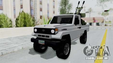 Toyota Land Cruiser Libyan Army para GTA San Andreas vista direita