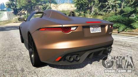 GTA 5 Jaguar F-Type Project 7 2016 traseira vista lateral esquerda