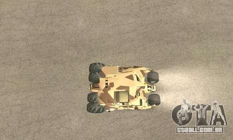 Army Tumbler Rocket Launcher from TDKR para as rodas de GTA San Andreas