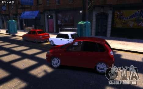 Lada Kalina 2 para GTA 4 vista direita