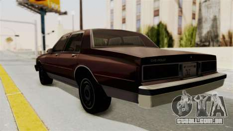 Chevrolet Caprice 1987 v1.0 para GTA San Andreas esquerda vista