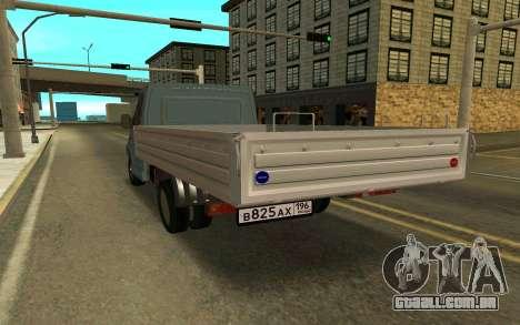 Gazela SEGUINTE para GTA San Andreas traseira esquerda vista