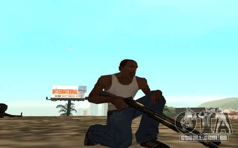 Golden weapon pack para GTA San Andreas por diante tela