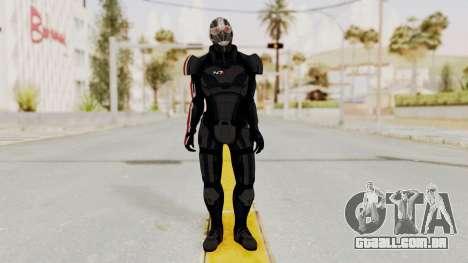 ME2 Shepard Default N7 Armor Recoon Hood Helmet para GTA San Andreas segunda tela