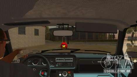 VAZ 2107 RÚSSIA para GTA San Andreas vista interior