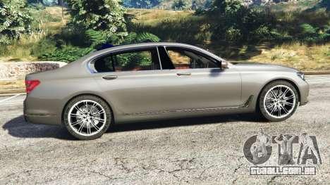 GTA 5 BMW 750Li xDrive (G12) 2016 vista lateral esquerda