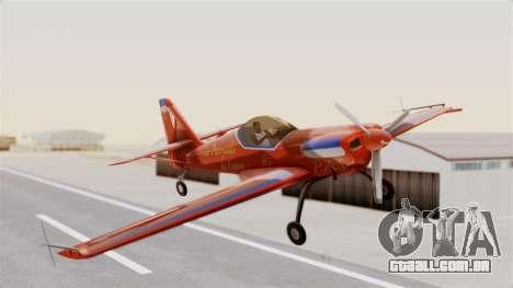 Zlin Z-50 LS v3 para GTA San Andreas traseira esquerda vista