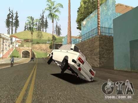 BA3 2106 AVTOS para GTA San Andreas traseira esquerda vista