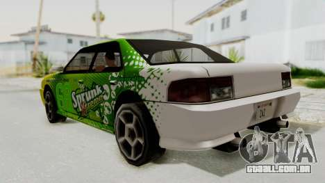 Sprunk Sultan para GTA San Andreas esquerda vista