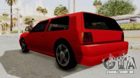 Flash Sport para GTA San Andreas traseira esquerda vista