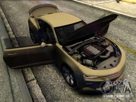 Chevrolet Camaro SS 2016 para GTA San Andreas vista interior