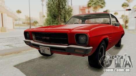 Holden Monaro GTS 1971 SA Plate HQLM para GTA San Andreas