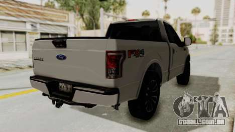 Ford Lobo XLT 2015 Single Cab para GTA San Andreas traseira esquerda vista