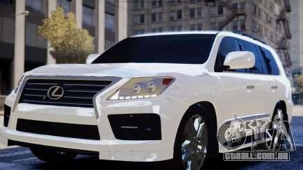 Lexus Lx 570 2014 sport para GTA 4