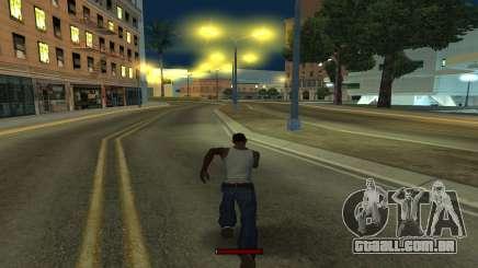 O indicador de execução rápida para GTA San Andreas