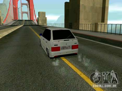VAZ 2114 KBR para GTA San Andreas vista direita