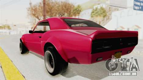 Chevrolet Camaro SS 1968 para GTA San Andreas vista direita