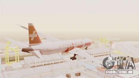 Boeing 777-300ER Faces of SWISS Livery para GTA San Andreas vista direita