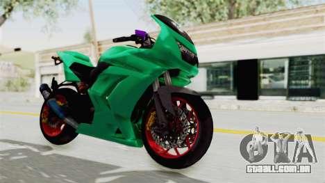 Kawasaki Ninja 250R Race para GTA San Andreas vista direita