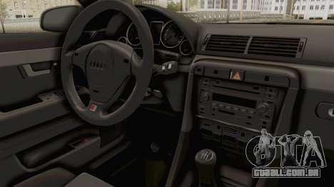 Audi A4 2002 Stock para GTA San Andreas vista traseira