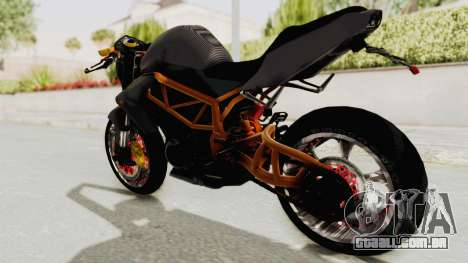 Kawasaki ER 6N Superbike para GTA San Andreas esquerda vista