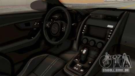 Jaguar F-Type L3D Store Edition para GTA San Andreas vista interior