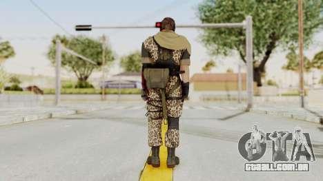 MGSV The Phantom Pain Venom Snake Scarf v8 para GTA San Andreas terceira tela