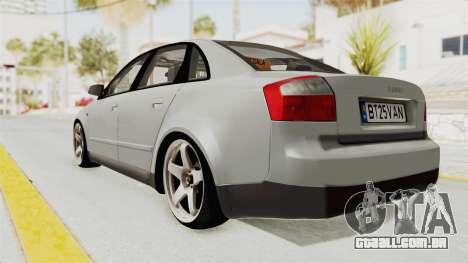 Audi A4 2002 Stock para GTA San Andreas vista direita