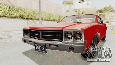 GTA 5 Declasse Sabre GT2 IVF para GTA San Andreas vista direita