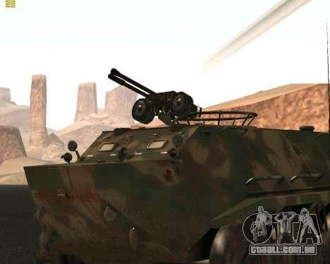 BTR 60 PA para GTA San Andreas traseira esquerda vista