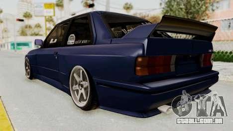 BMW M3 E30 para GTA San Andreas esquerda vista