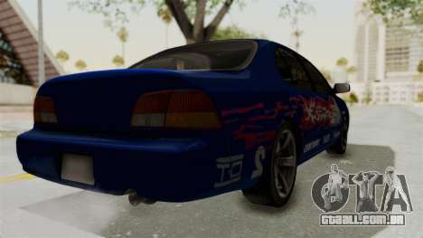 Nissan Maxima SE 1997 Fast N Furious para GTA San Andreas traseira esquerda vista