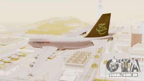 Boeing 747-400 Malaysia Airlines Tabung Haji para GTA San Andreas esquerda vista