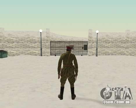 Pak combatentes do exército vermelho para GTA San Andreas por diante tela