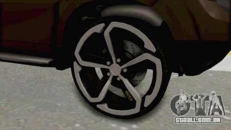 Dacia Duster 2010 Tuning para GTA San Andreas vista traseira
