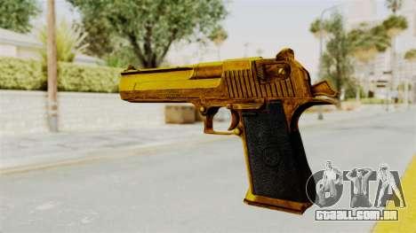 Desert Eagle Gold para GTA San Andreas terceira tela