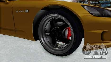 Honda S2000 S2K-AP1 para GTA San Andreas vista traseira