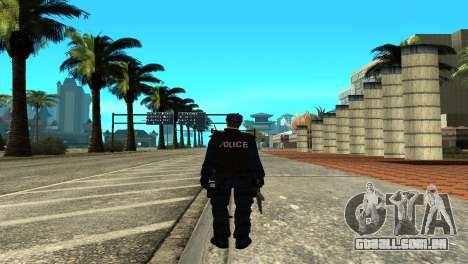 Police SWAT Skin for GTA San Andreas para GTA San Andreas terceira tela