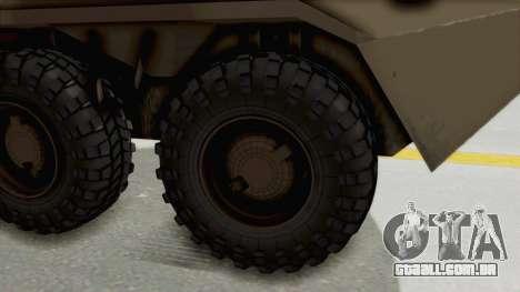 BTR-80 Desert Turkey para GTA San Andreas vista traseira