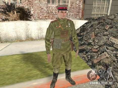 Pak combatentes do exército vermelho para GTA San Andreas
