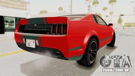 GTA 5 Vapid Dominator v2 SA Lights para GTA San Andreas esquerda vista