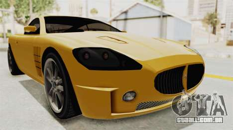 GTA 5 Ocelot F620 SA Lights para GTA San Andreas traseira esquerda vista