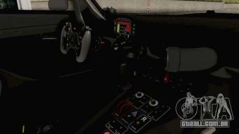 Mercedes-Benz SLS AMG GT3 2016 Goodsmile Racing para GTA San Andreas vista interior