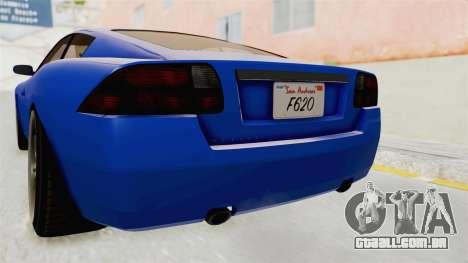 GTA 5 Ocelot F620 IVF para GTA San Andreas vista inferior