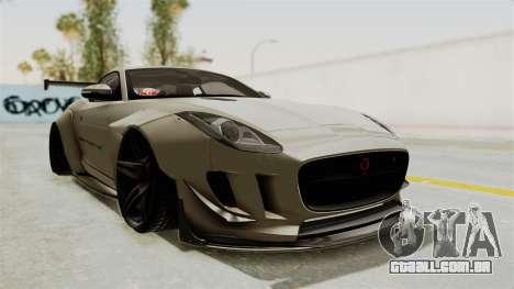 Jaguar F-Type L3D Store Edition para GTA San Andreas vista direita