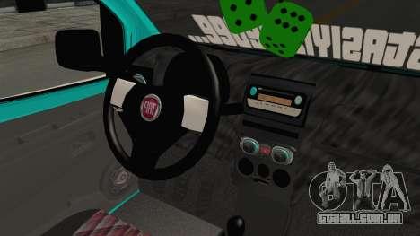 Fiat Fiorino v2 para GTA San Andreas vista interior