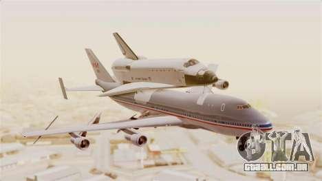 Boeing 747-123 Space Shuttle Carrier para GTA San Andreas traseira esquerda vista