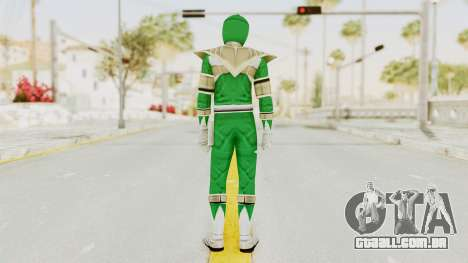Mighty Morphin Power Rangers - Green para GTA San Andreas terceira tela
