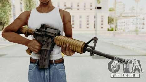 HD M4 v2 para GTA San Andreas terceira tela